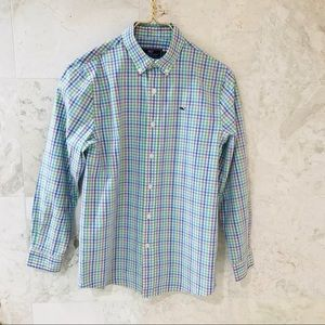 🐳VV Boys' {M} Button-Down Shirt in Pastels